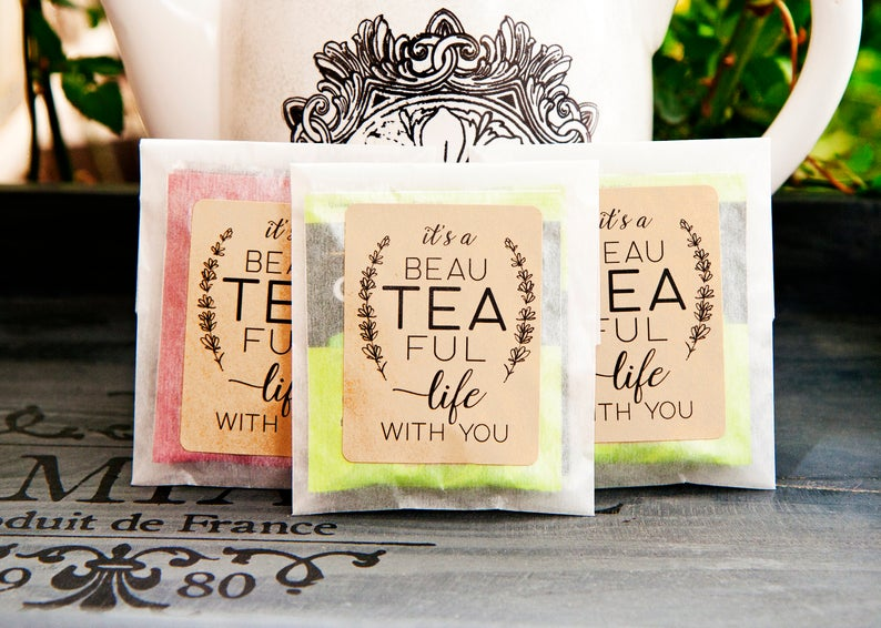 tea bag wedding favors
