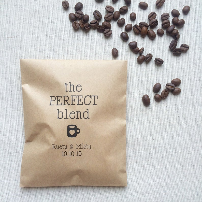 coffee bean wedding favors - the perfect blend
