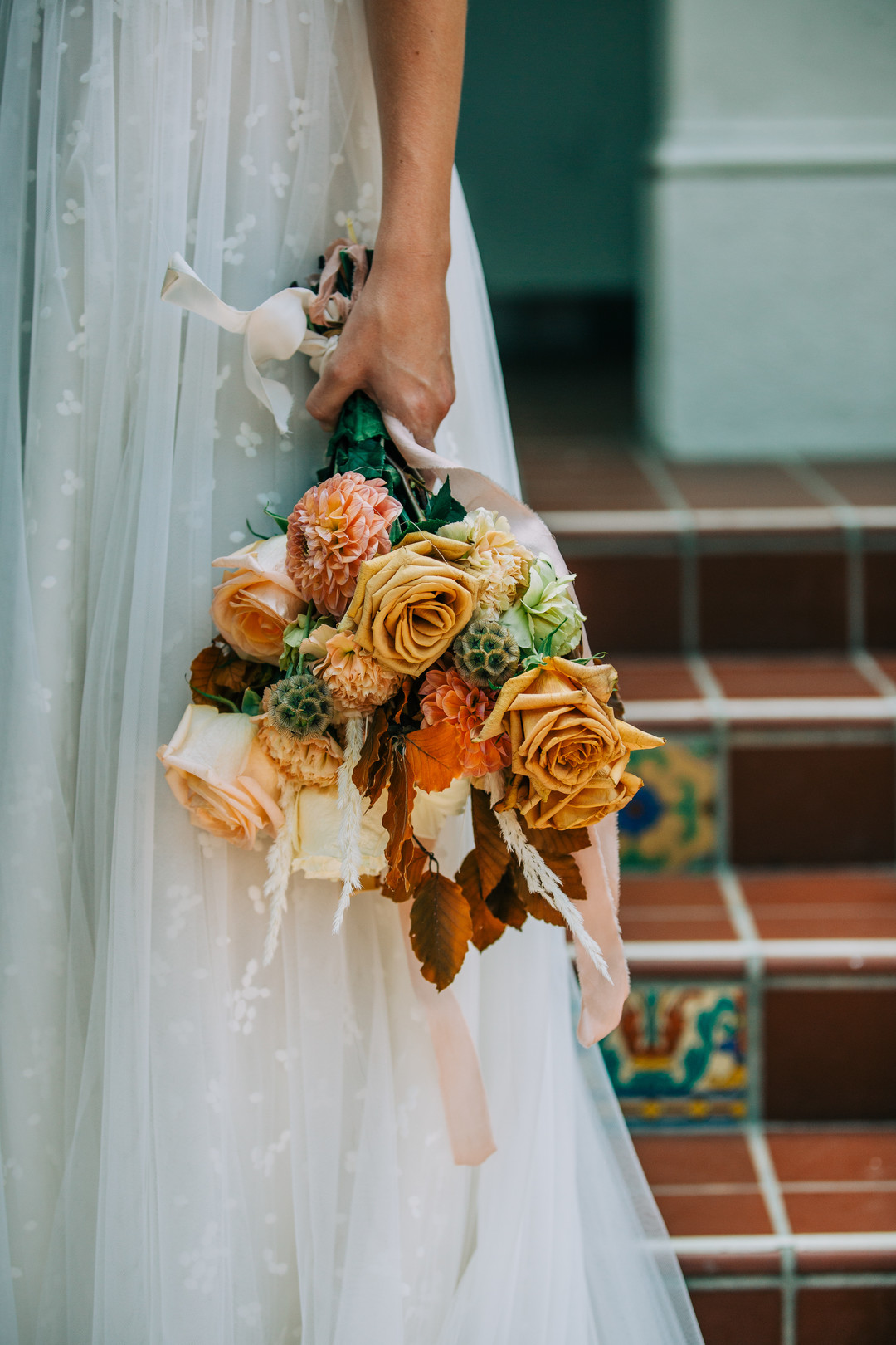 fall bride's bouquet
