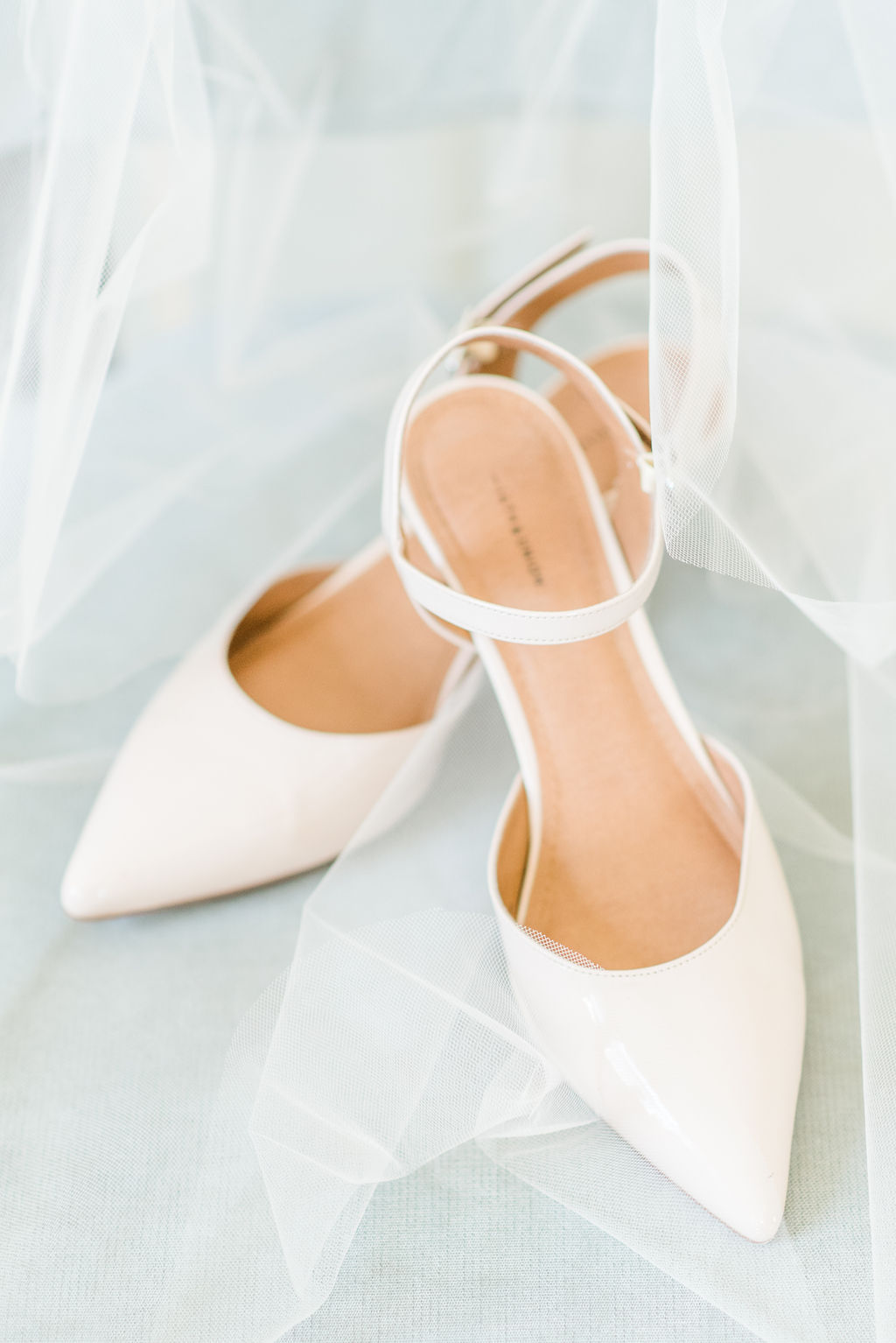 plain white wedding heels