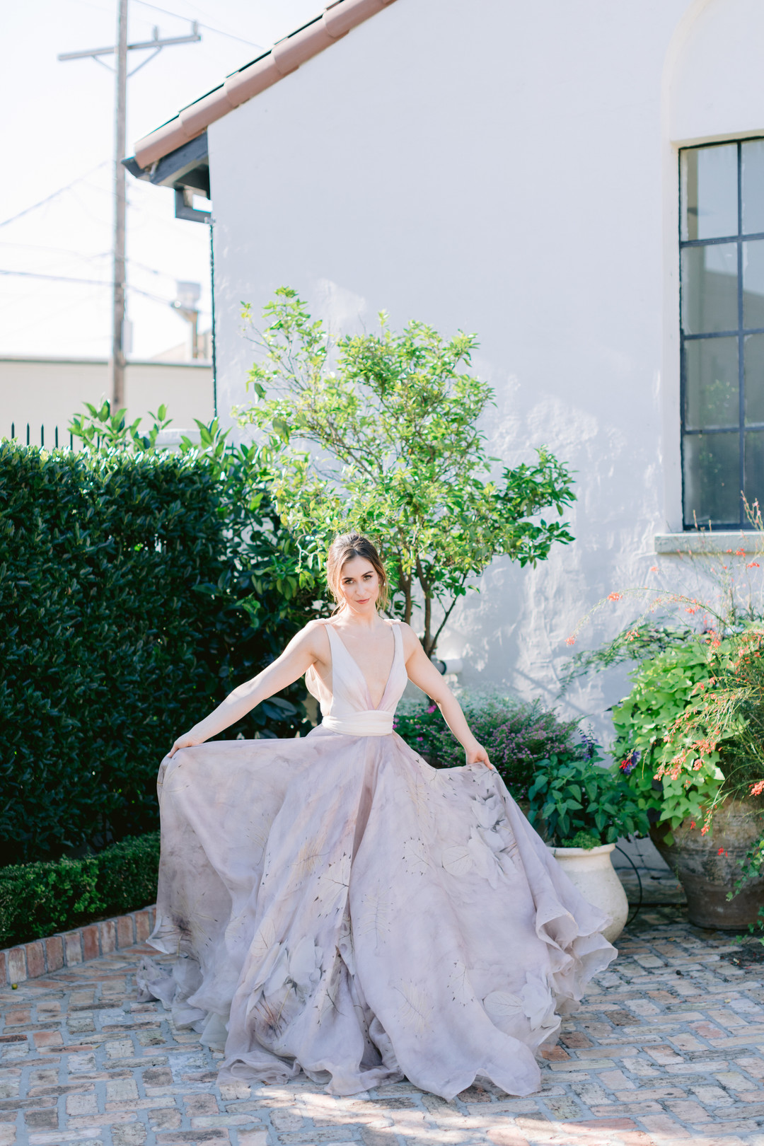 Il Mercato Wedding, New Orleans Wedding, Magazine Street Wedding, bride twirling, colorful wedding gown