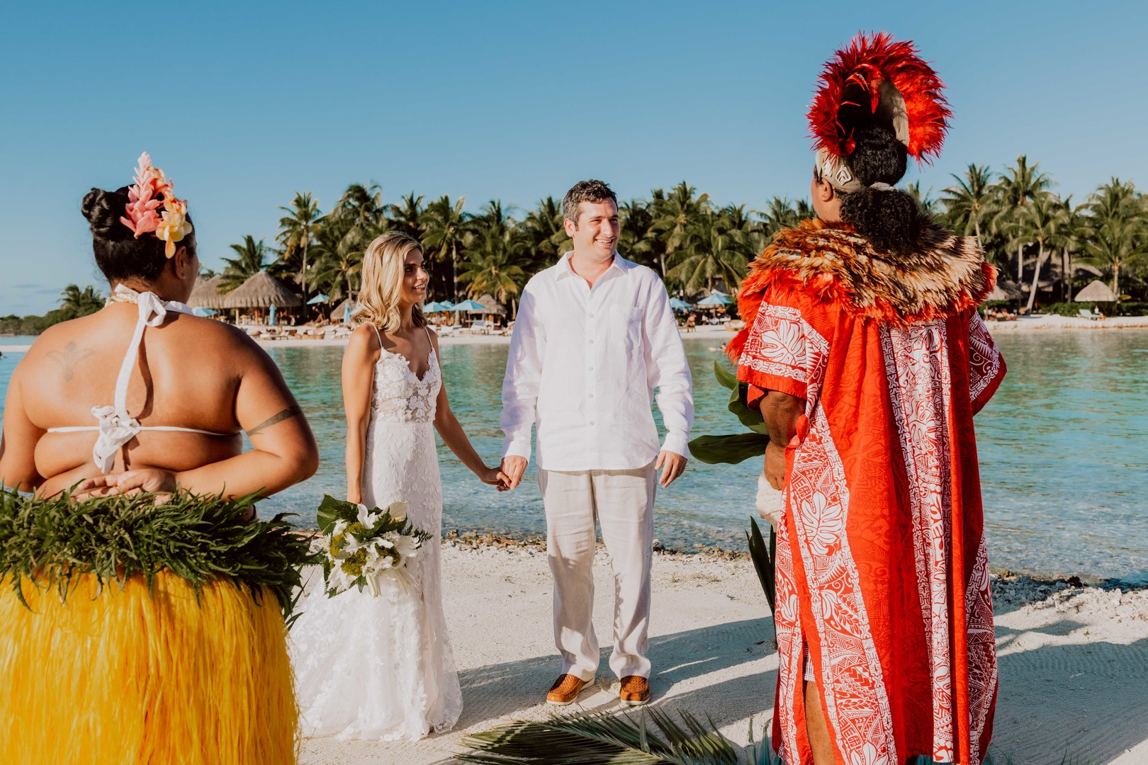 Ceremony of Polynesian wedding
