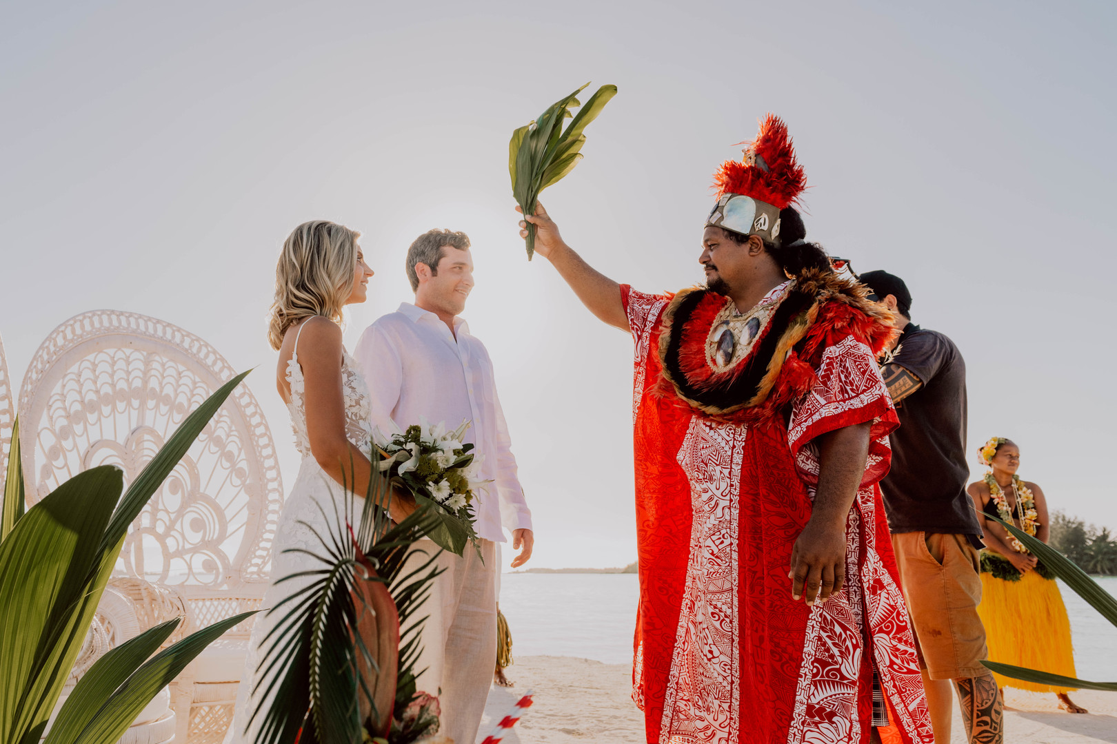 Bora Bora Polynesian Wedding Ceremony