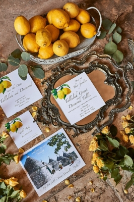 lemon themed wedding invitations