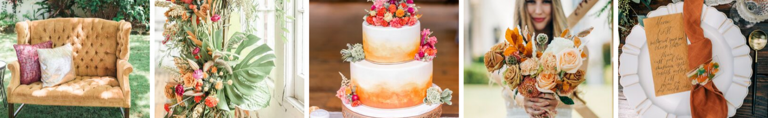 amber wedding ideas