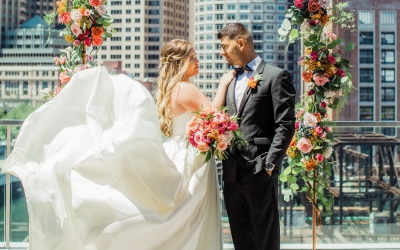 Envoy Hotel Wedding – A Vivid Rooftop Celebration