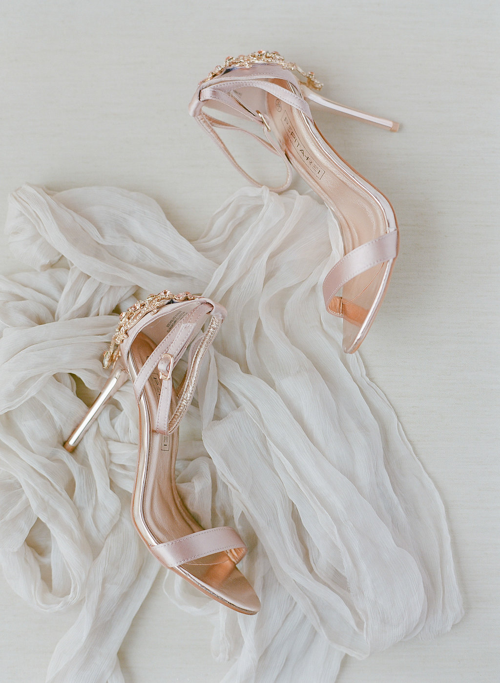 rose gold wedding pumps
