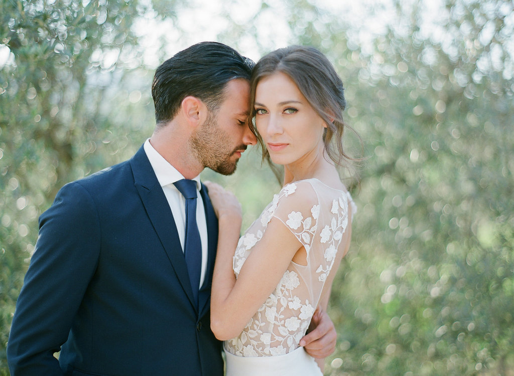 bride with glamorous up-do and beautiful makeup