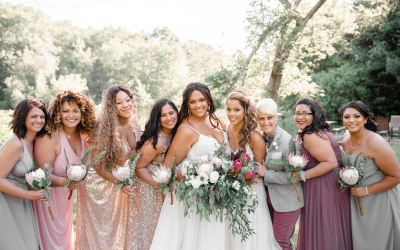 A Stunning Solitude Springs Wedding Featuring Amazing Protea Flowers