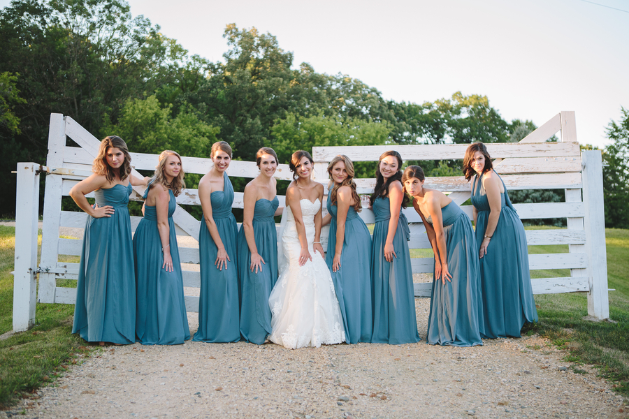 Blue Bridesmaid Dresses Your Girls Will Love Glittery Bride