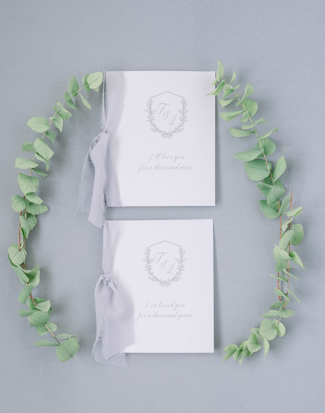 white and grey vow books
