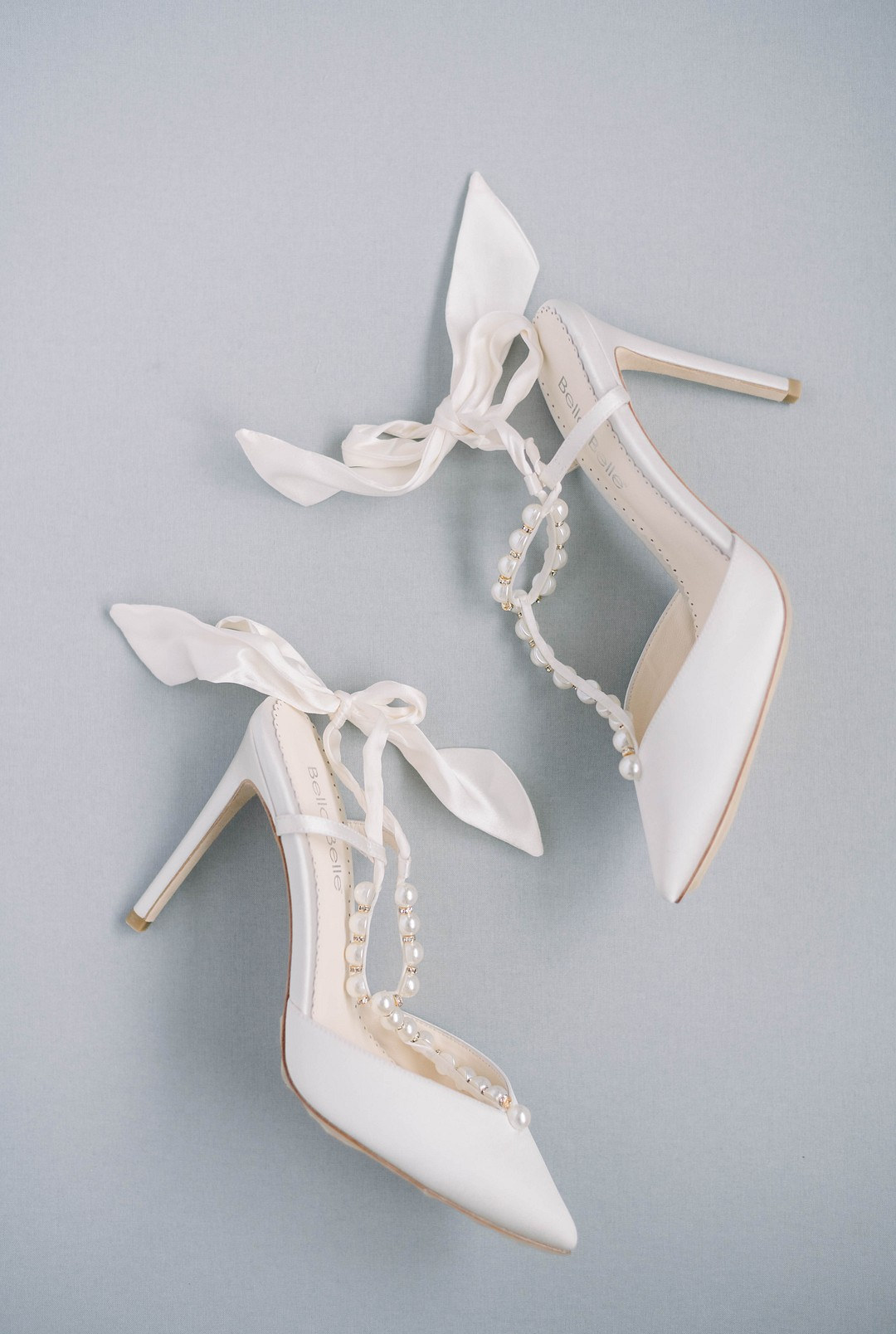 bella belle with and pearl wedding shoes