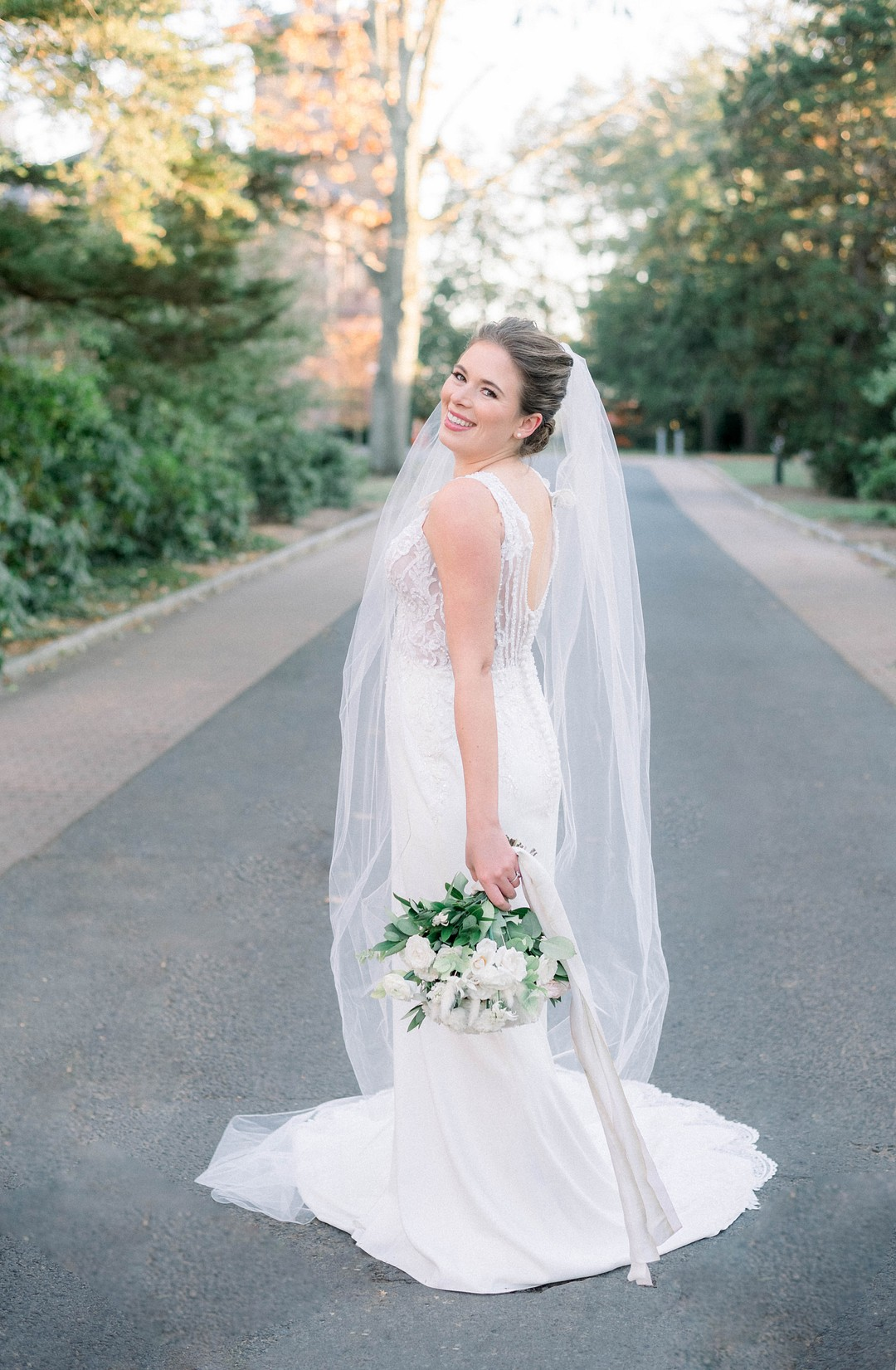 bride with a justin alexander gown