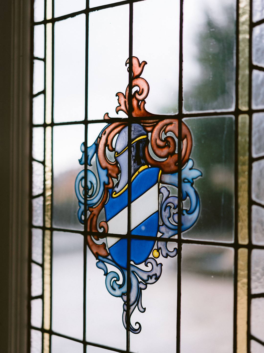 Villa Pina stained glass door