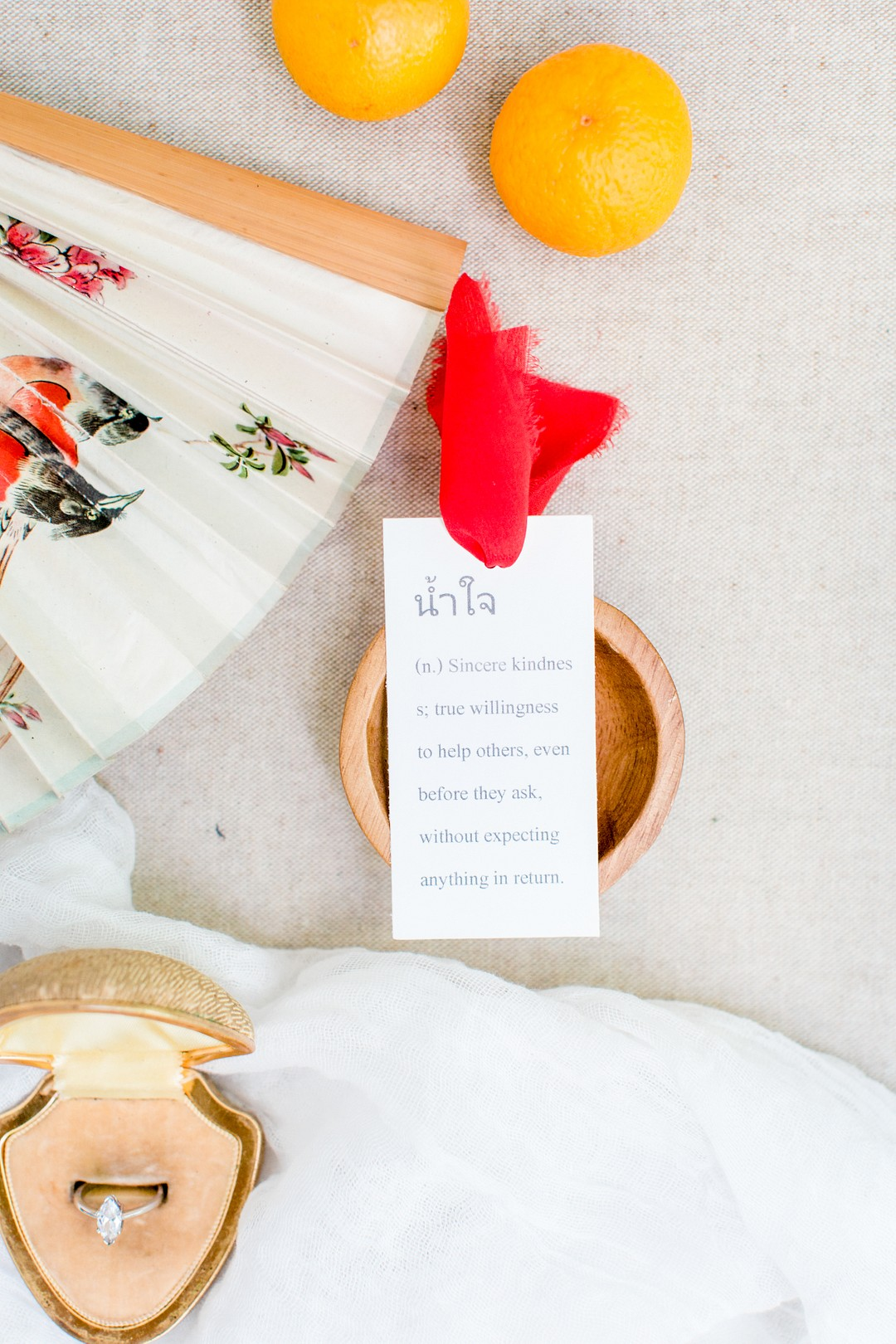 red lunar new year wedding placecard