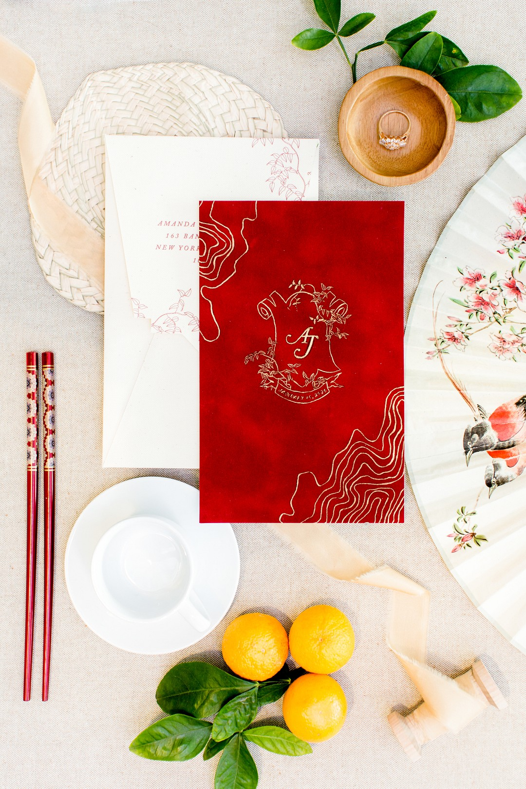 red chinese new year wedding vow book