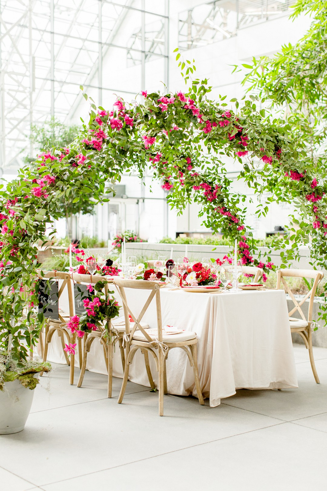 bougainvillea wedding decor