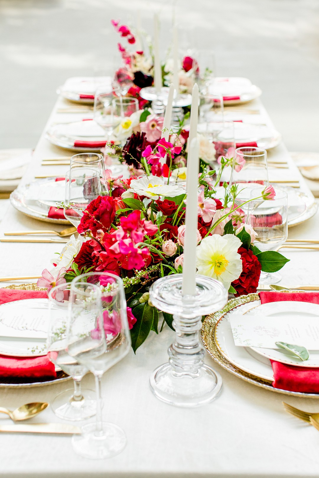 red wedding table decoration ideas
