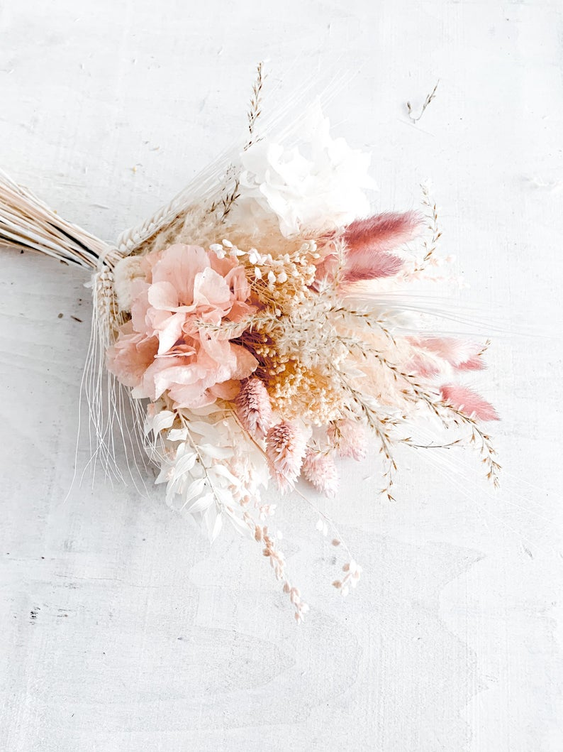 Blush Dried Flowers Bridal Bouquet