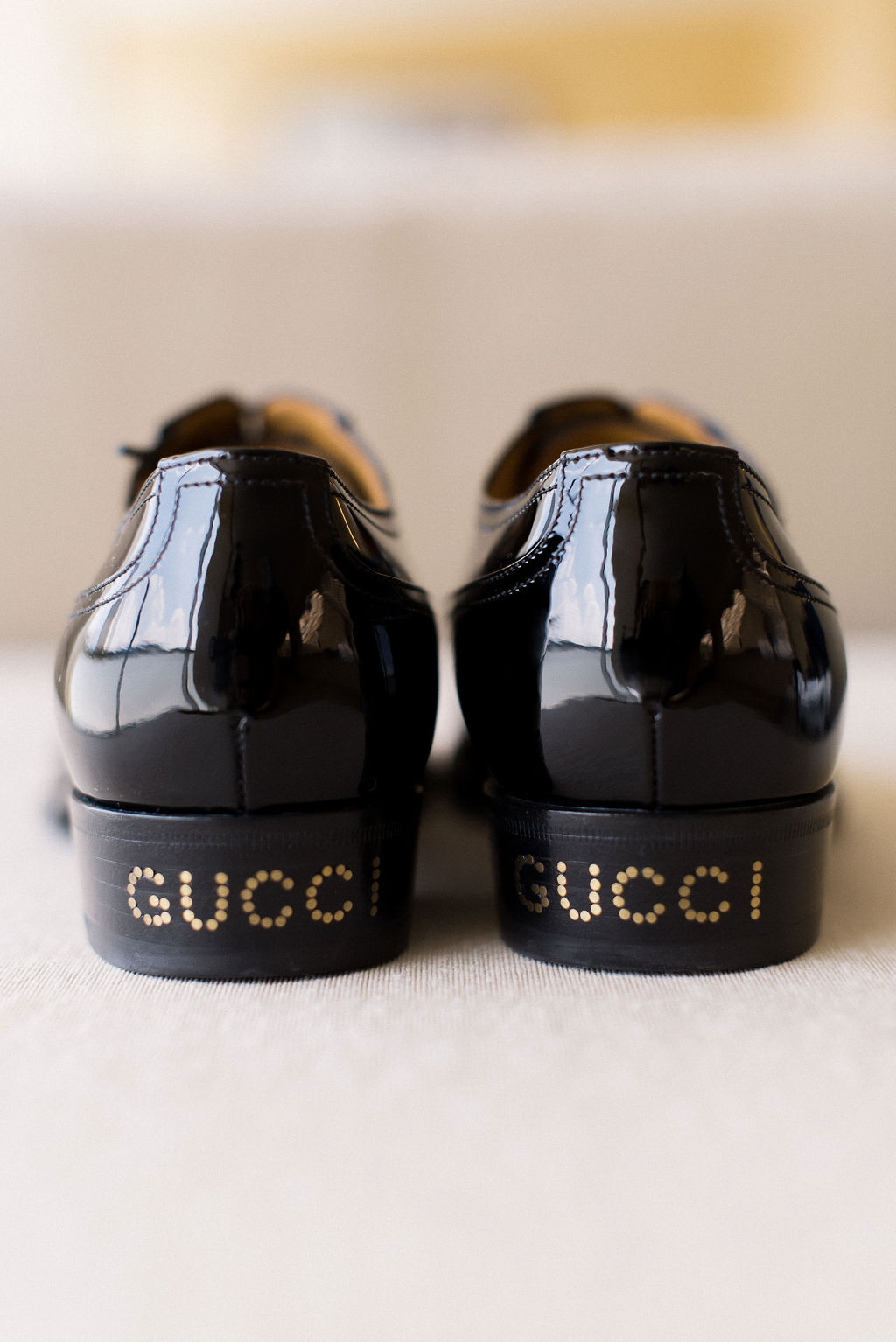 groomsmen shoes with gucci decal on heels