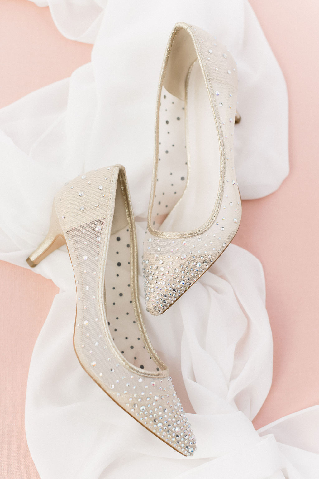 sparkly bridal high heels with crystals