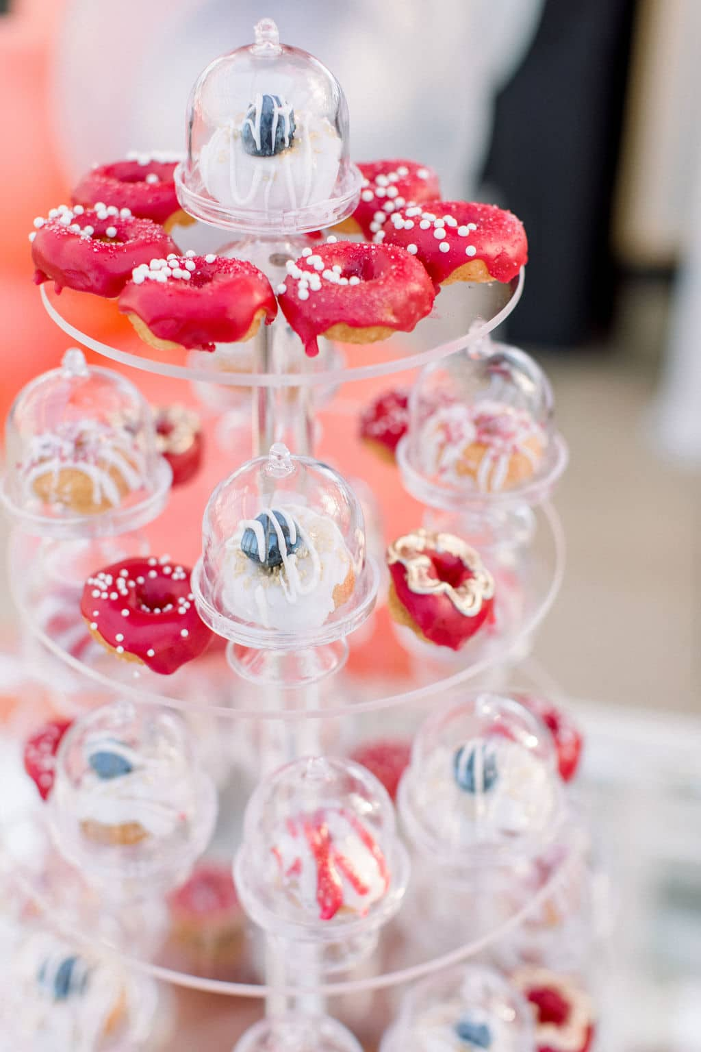 some red sweets that match the berry wedding theme and are yummy