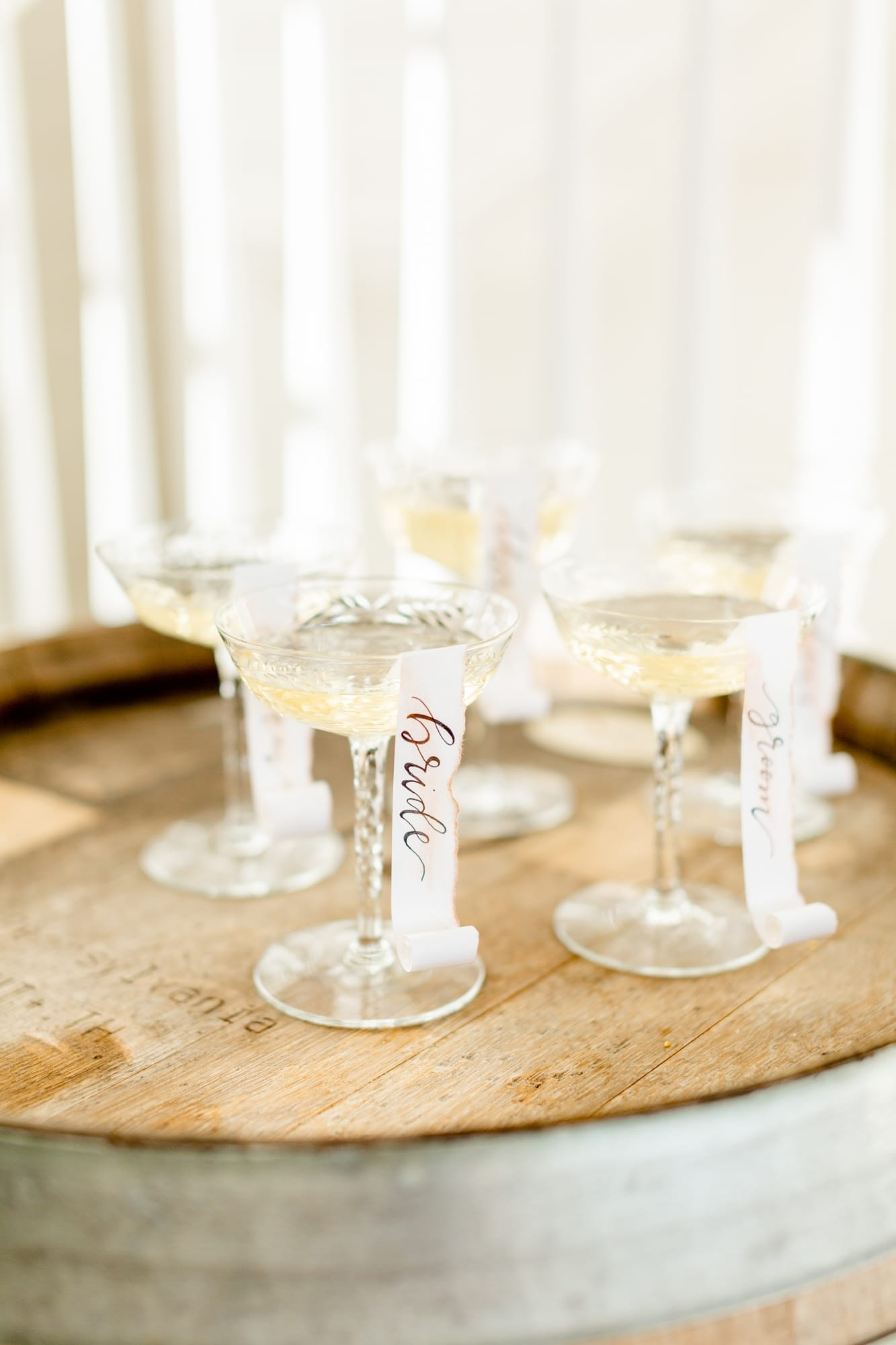 wedding customized champagne flutes