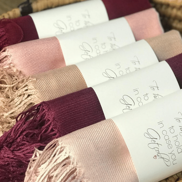 fall wedding blankets