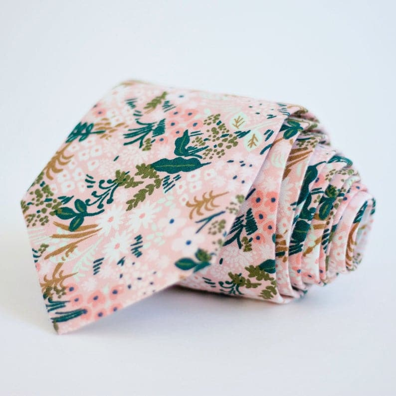 Rifle Paper Co Floral Tie in pink