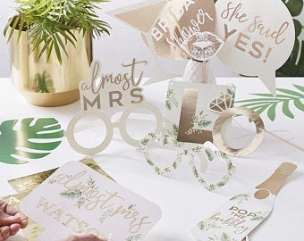 Botanical Photo Booth Props