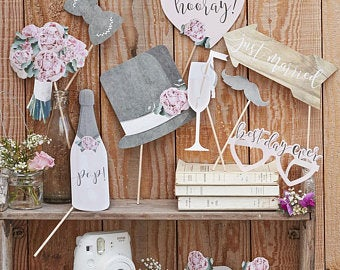 Rustic Wedding Photo Booth Props