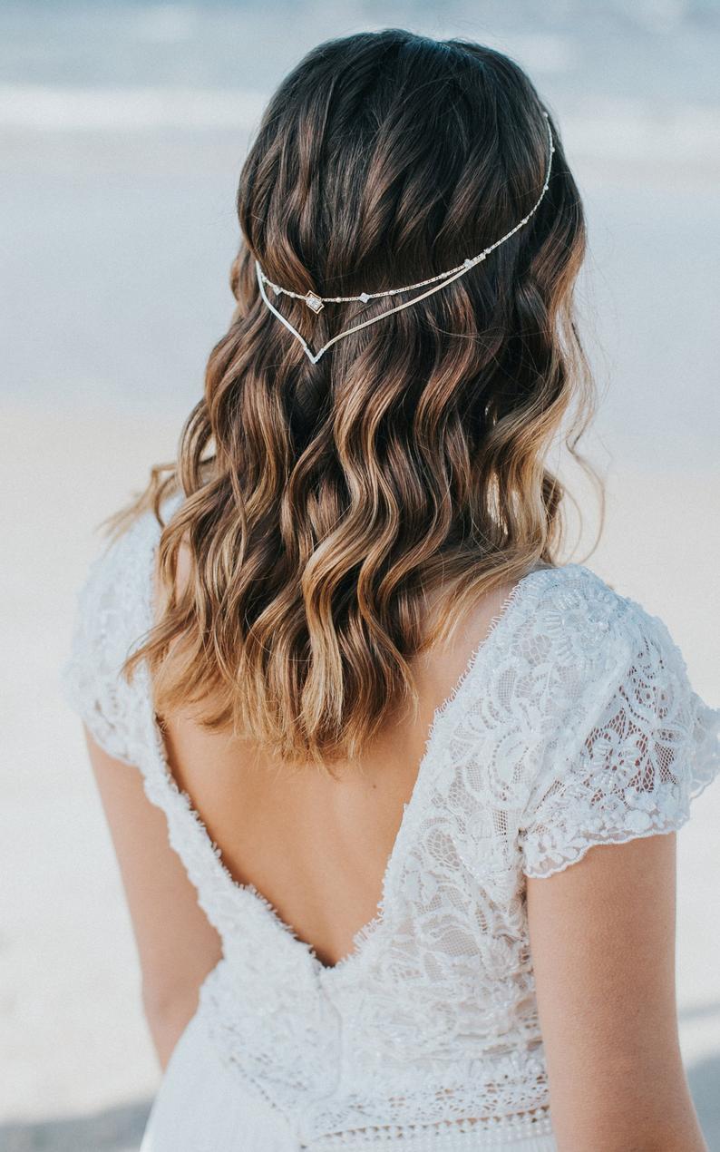wedding hair chain