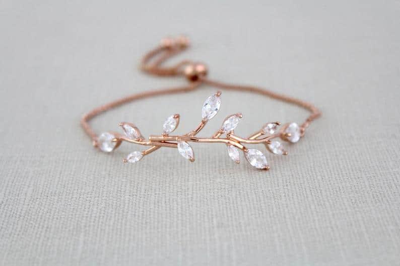 vine bridesmaid bracelet